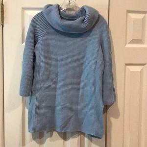 Light blue lands end women's sweater